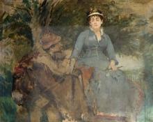 Eva Gonzalès,  Gonzalès Eva, Il giro con l'asino | The donkey ride
