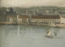 Eva Gonzalès, L'avamporto (Dieppe)   L'avant-port (Dieppe)
