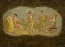 Eva Gonzalès, La Danza (Studio per un ventaglio)   La Danse (Étude pour un éventail)