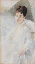 Eva Gonzalès, La convalescente. Ritratto di donna in bianco | La Convalescente. Portrait de femme en blanc