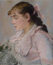 Eva Gonzalès, La donna in rosa (Jeanne Gonzalès) | La femme en rose (Jeanne Gonzalès)