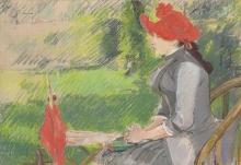 Eva Gonzalès, La lettura in giardino   La lecture au jardin