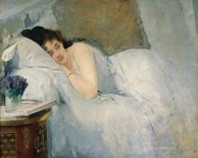 Eva Gonzalès, Risveglio mattutino | Erwachendes Mädchen | Morning awakening