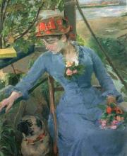 Eva Gonzalès, Sotto il pergolato (Honfleur) | Sous le berceau, Honfleur
