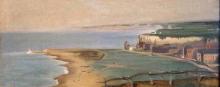 Eva Gonzalès, Spiaggia di Dieppe vista dalla scogliera occidentale