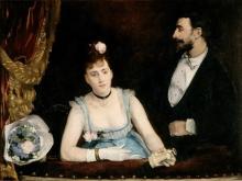 Eva Gonzalès, Un palco al Théâtre des Italiens   Une loge aux Italiens