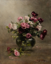Eva Gonzalès, Vaso di rose | Vase de roses | Vase of roses