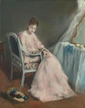 Eva Gonzalès, La mattina rosa | La matinée rose