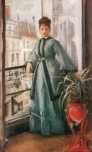 Eva Gonzalès, La donna in blu   La femme en bleu