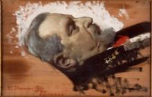 Giacomo Grosso, Filippo Stanzani sul letto di morte