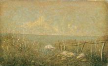 Vittore Grubicy de Dragon, Gruppo di pecore presso una siepe (Terzetto tenue)