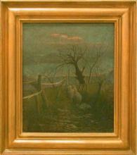 Vittore Grubicy de Dragon, Poema invernale - Dalla finestra: sera d'inverno