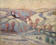 Jean-Baptiste Armand Guillaumin, Pontcharraud sotto la neve | Pontcharraud sous la neige | Pontcharraud under the snow