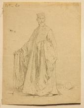 Francesco Hayez (attribuito a), Figura maschile di anziano