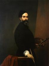 Francesco Hayez, Autoritratto a cinquantasette anni