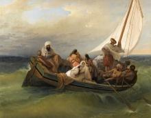 Francesco Hayez, Barca con greci fuggitivi dall'isola di Scio
