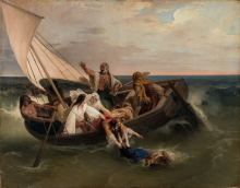 Francesco Hayez, Barca con greci fuggitivi