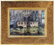 Francesco Hayez, Castello inglese con lago e cigni