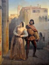 Francesco Hayez, Fuga di Bianca Capello da Venezia