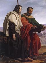 Francesco Hayez, Gli apostoli Giacomo e Filippo in viaggio per le loro predicazioni