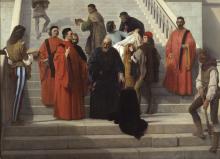 Francesco Hayez, Gli ultimi momenti del doge Marin Faliero sulla scala detta del piombo [dettaglio]