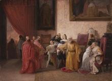 Francesco Hayez, Il doge Francesco Foscari obbligato dai tre capi del Consiglio dei Dieci a rinunciare al dogato