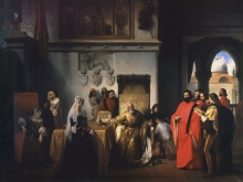 Francesco Hayez, Il doge Francesco Foscari destituito con decreto del Senato Veneto; o sia l'ultimo tratto della vendetta dell'inquisitore Loredano contro quel principe della Veneta Repubblica