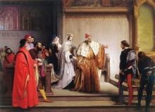 Francesco Hayez, Il doge Marino Faliero accusa il giovane Steno di essere l'autore della scritta infamante sul Doge e la Dogaressa