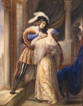 Francesco Hayez, L'addio o L'ultimo bacio di Romeo e Giulietta