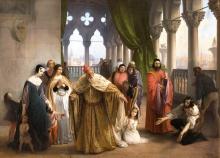 Francesco Hayez, L'ultimo abboccamento di Jacopo Foscari con la propria famiglia prima di partire per l'esilio cui era stato condannato