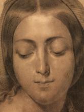 Francesco Hayez, La Vergine [dettaglio]