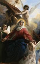 Francesco Hayez, La Vergine addolorata con gli angioli e i segni della passione