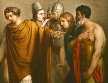 Francesco Hayez, La morte di Abradate