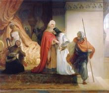 Francesco Hayez, La partenza di Saladino