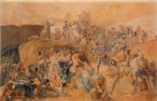 Francesco Hayez, La sete patita dai primi Crociati sotto Gerusalemme