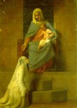 Francesco Hayez, Madonna con Bambino e devota