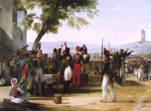 Francesco Hayez, Napoleone I conferisce le decorazioni dopo la battaglia di Wagram