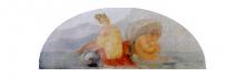 Francesco Hayez, Nereide con delfino e Tritone, 1819, cm. 92 x 249