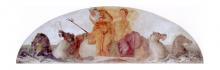 Francesco Hayez, Nettuno e Mercurio su una conchiglia trainata da cavalli marini, 1819, cm. 133 x 434,5