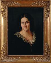 Francesco Hayez, Ritratto della cantante Matilde Juva Branca [1851 circa]