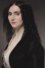 Francesco Hayez, Ritratto della cantante Matilde Juva Branca [dettaglio]