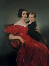 Francesco Hayez, Ritratto della contessa Teresa Zumali Marsili con il figlio Giuseppe