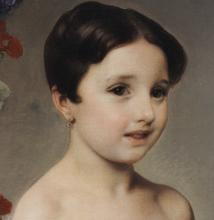 Francesco Hayez, Ritratto della contessina Antonietta Negroni Prati Morosini [dettaglio]