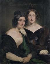 Francesco Hayez, Ritratto delle signore Carolina Grassi e Bianca Bignami, sorelle Gabrini