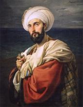 Francesco Hayez, Ritratto di Carlo Prayer nel personaggio di Alp (Il rinnegato veneto)