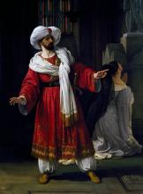 Francesco Hayez, Ritratto di Giovanni David sulla scena del melodramma 'Gli arabi nelle Gallie'