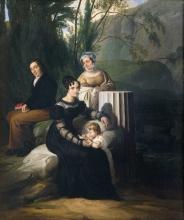 Francesco Hayez, Ritratto di gruppo della famiglia Borri Stampa