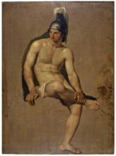 Francesco Hayez, Studio di guerriero seduto
