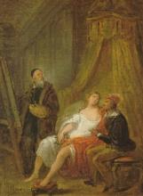 Francesco Hayez, Tiziano dipinge la Flora che è corteggiata da un paggio