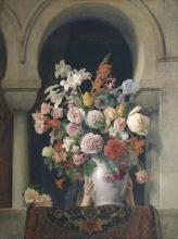 Francesco Hayez, Un vaso di fiori sulla finestra di un harem